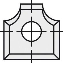 BRÜCK HW-WP 12x12x1,5 mm R=2 B05