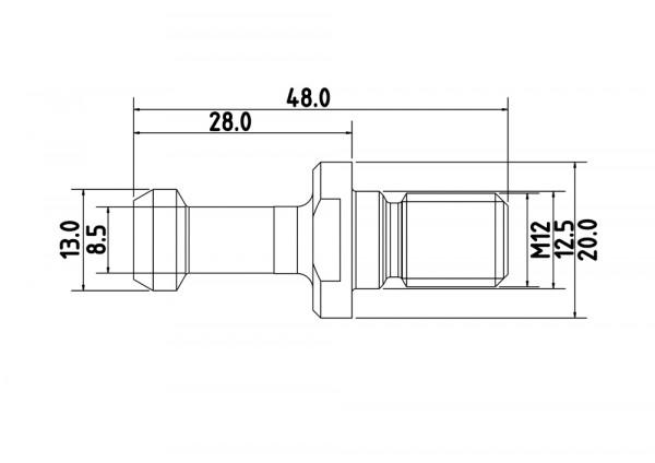 Anzugsbolzen BT35 Typ2