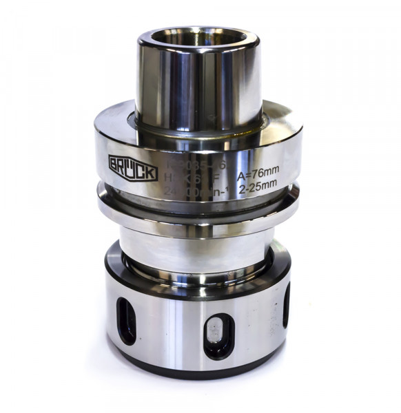 CNC-Spannzangenfutter-HSK 63 F A=76 mm für Spannzangen 462 E/OZ 25, feingewuchtet