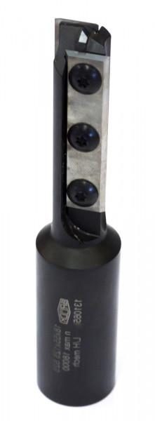 WP-Schaftfräser Z 2 für CNC D=22 mm-rechts NL=55mm GL=125mm S=25x55mm m.HW-Einbohrs.