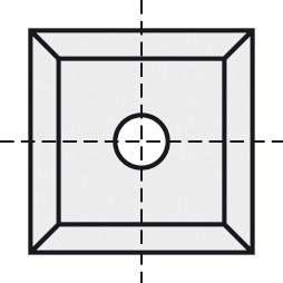 BRÜCK HW-VS 19x19x2 mm B05