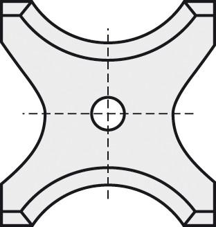 BRÜCK HW-WP 26x24x2 mm R=10 B05