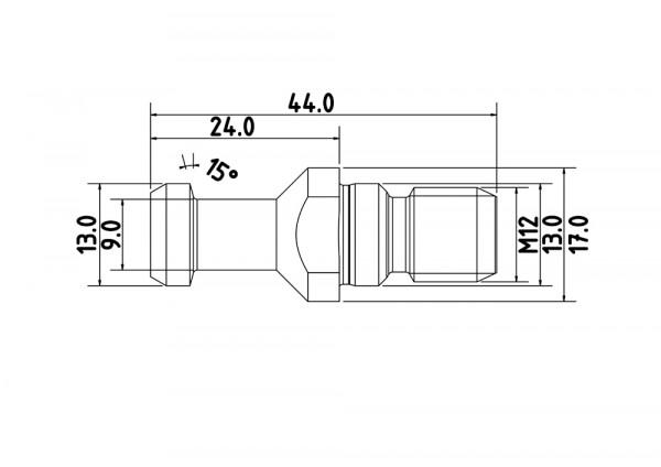Anzugsbolzen SK30 DIN 69872-B