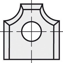 BRÜCK HW-WP 12x13x2 mm R=3 B05