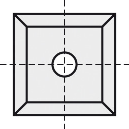 BRÜCK HW-WP 12x12x1,5 mm B20