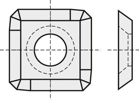 BRÜCK HW-WP 14,3x14,3x2,5 mm B05