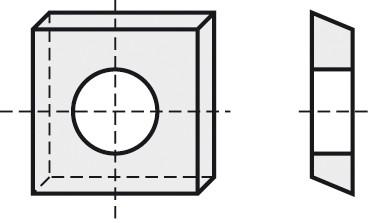 BRÜCK HW-WP 12x12x1,5 mm B10