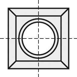 BRÜCK HW-WP 14x14x1,2 mm B05