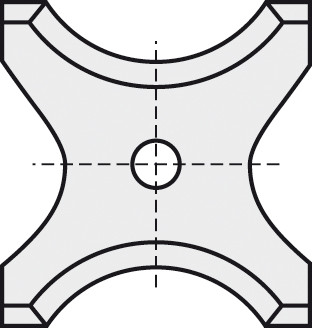 BRÜCK HW-WP 20x21x2 mm R=6 B05