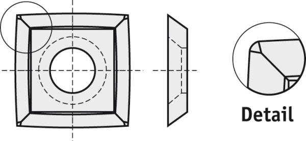 BRÜCK HW-WP 15x15x2,5 mm R=50 B10