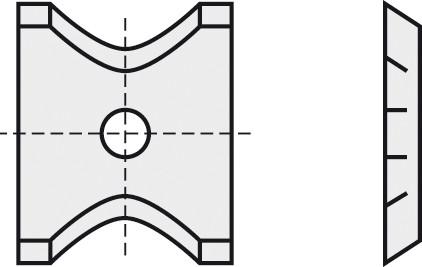 BRÜCK HW-WP 13x14x1,5 mm R=2 B05