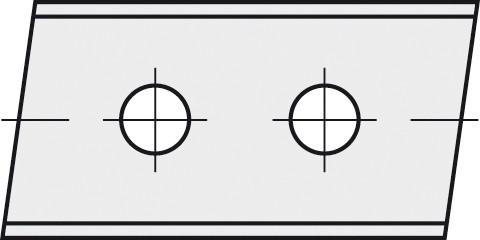 BRÜCK HW-WP 40x12x1,5 mm rechts 5° B20