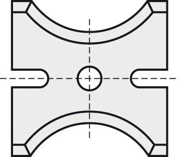 BRÜCK HW-WP 26x18x2 mm R=9 B05