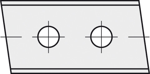 BRÜCK HW-WP 40x12x1,5 mm links 5° B10