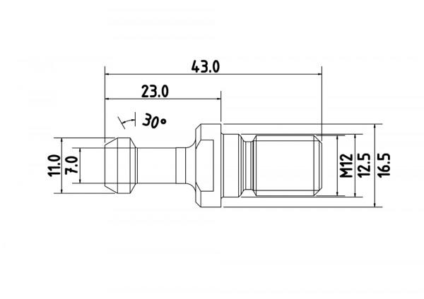 Anzugsbolzen BT30 Typ2