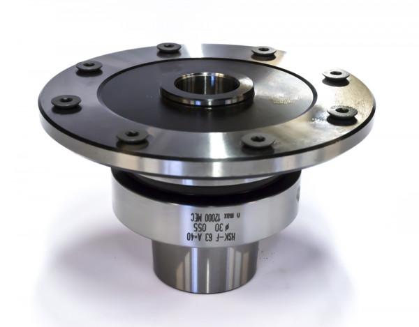 Sägeblattaufnahme für CNC-HSK 63F A=150 mm D=30/70, 6 NL6/TK60+2 Boh.5,5 für Drehs.