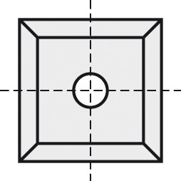 BRÜCK HW-VS 19x19x2 mm B20