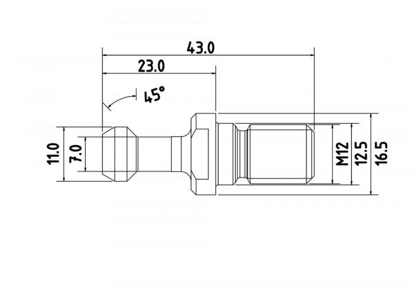 Anzugsbolzen BT30 Typ1