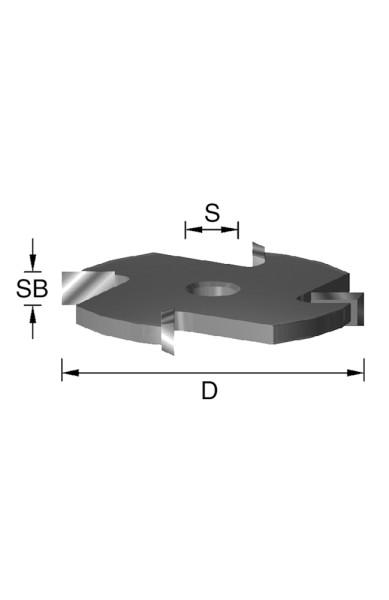 HW-Scheibennutfräser D=50,8mm SB=2mm S=8mm