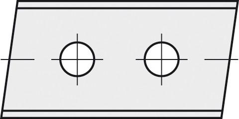BRÜCK HW-WP 50x12x1,5 mm rechts 5° B10