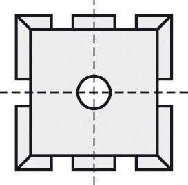 BRÜCK HW-WP 15x15x2 mm B10