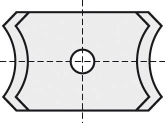 BRÜCK HW-WP 20x12x2 mm R=1.5 15° B05