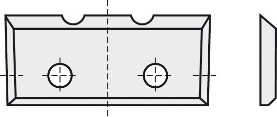 BRÜCK HW-WP 16x7x1,5 mm 2-Nuten B10