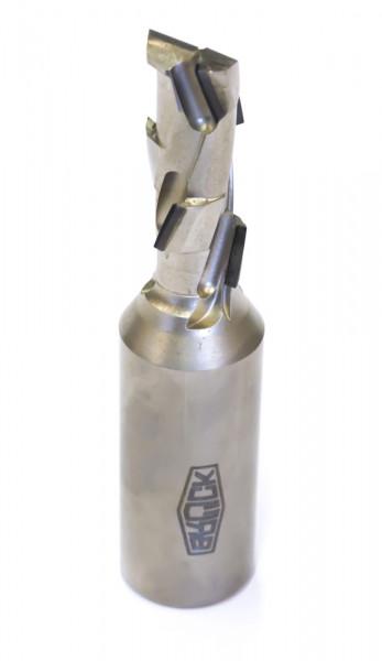 DP-Schaftfräser Z 1+1 -ECO- / links D=20 mm L1=100 mm L2=35 mm S=25x55mm