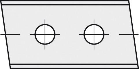 BRÜCK HW-WP 40x12x1,5 mm links 5° B20