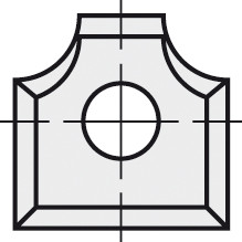 BRÜCK HW-WP 12x12x1,5 mm R=3 B05