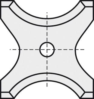 BRÜCK HW-WP 26x24x2 mm R=9 B05