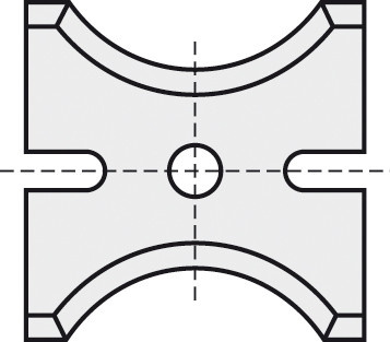 BRÜCK HW-WP 26x18x2 mm R=11 B05