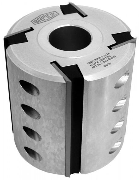 Hobelkopf 140x120x50 mm Z 4 LM mit HS-Streifenhobelmessern bestückt