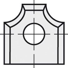 BRÜCK HW-WP 12x13x2 mm R=2 B05