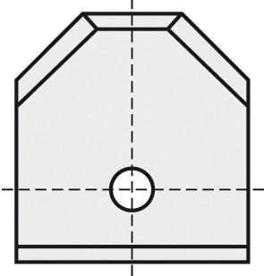 BRÜCK HW-WP 12x12x1,5 mm F45° B05