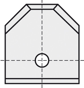 BRÜCK HW-WP 16x17,5x2 mm F45° B05