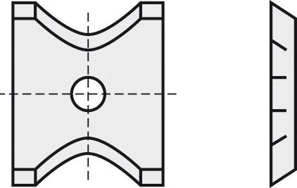 BRÜCK HW-WP 13x16x2 mm R=2 B05