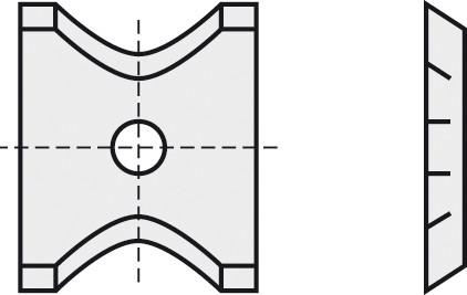 BRÜCK HW-WP 13x14x1,5 mm R=3 B05