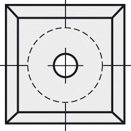 BRÜCK HW-VS 10,5x10,5x1,5 mm B20