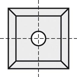 BRÜCK HW-VS 10,5x10,5x1,5 mm B05