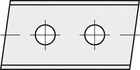 BRÜCK HW-WP 40x12x1,5 mm rechts 5° B10