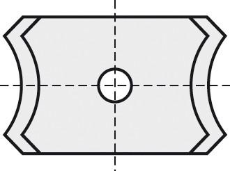 BRÜCK HW-WP 20x12x2 mm R=3 15° B05
