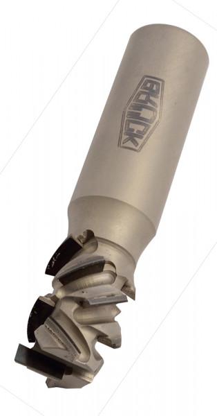 DP-Schaftfräser Z 2+2 -SPRINT- / links D=25mm NL=55mm GL=124mm S=25x55mm